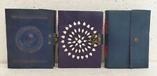 Leather Journal Diary Notebook Handmade Blank Paper Travel Notepad Book Lot of 3