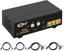 CKL HDMI KVM Switch 2 Port Dual Monitor Extended Display CKL-922HUA
