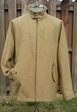 New Polo Ralph Lauren Men L Tan Camel Wool Zip Peacoat Chin Strap Jacket rrl