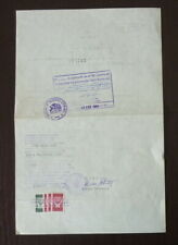 Yugoslavia 1982 Chile Consular Revenue Stamp on Document B1