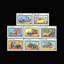 Gambia, Sc #0928-35, Mnh, 1989, Disney, Christmas, Classic Cars, Di325F
