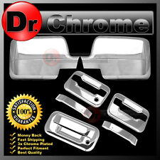 04-08 Ford F150 Chrome Mirror+2 Door Handle+no keypad no keyhole+Tailgate Cover
