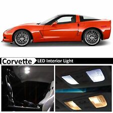 2005-2013 Chevrolet Corvette C6 White Interior LED Lights Package Kit