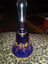 Bohemian Cobalt Gold leaf Bell