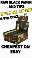 RAW BLACK ROLLING PAPER & TIPS CLASSIC KING SIZE PAPER GENUINE CHEAPEST