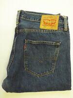 LEVI'S 501 ORIGINAL JEANS MEN'S STRAIGHT LEG W34 L28 MID BLUE STRAUSS LEVQ753