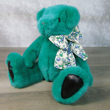 1992 GUND Victoria's Secret TEDDY BEAR Limited Edition Teal Green Black Leather