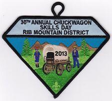 BOY SCOUT PATCH - SAMOSET COUNCIL - RIB MT. DIST - 2013 CHUCKWAGON - 30TH ANNUAL