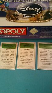 Disney Monopoly Deed/Property Replacement Cards FREE SHIPPING