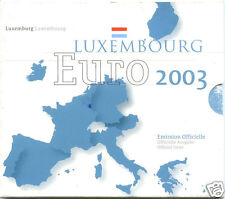 LUXEMBOURG COFFRET OFFICIEL BU 8 PIECES 2003 PONT ADOLPHE !!!!