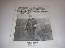 Kentucky Outdoors Sportsman Vintage Magazine, December, 1959, Deer Hunting!