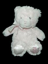 Baby Gund Pink My First Teddy Plush Bear Lovey 4043949 Bow Stuffed Animal