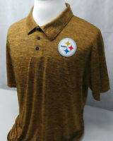 NFL Team Apparel Pittsburgh Steelers Performance Golf Polo Shirt Mens XL