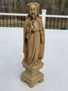 RARE CHINESE SOAPSTONE STATUE OF JESUS BEAUTIFULLY CARVED