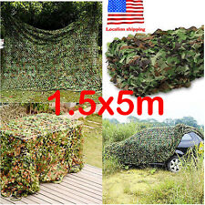 16.4 x 5FT Military Camo Net Camouflage Netting Hunting Shade Blind Tree Stands