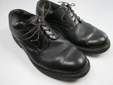 MEPHISTO MENS 8.5 GOODYEAR WELT PEBBLED LEATHER  CAPPED TOES LACED BLACK SHOES