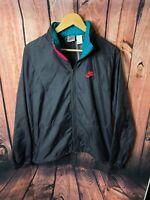 Nike Vintage 80's-90's Red Check Tag Colorblock Windbreaker Jacket Mens Medium🔥