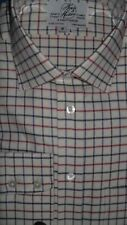 Harvie & Hudson 18.5/38 Brushed Cotton Blue/Red/Charcoal Check Single Cuff Shirt