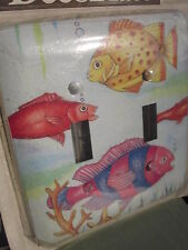 Ocean Life Fish Light Switch Cover Painted Steel Wall Plate Deco Plate New 2001