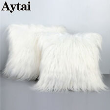 Fluffy Faux Fur Plush Throw Pillow Cover Cases Home Chair Sofa Cushion Cover