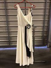 ex hire fancydress costumes - Long Cream Roman Lady Dress Size Medium