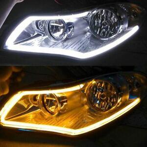 Flexible Car Soft Tube LED Strip Light DRL Daytime Running Headlight Lamp sale