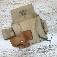 McGUIRE NICHOLAS Suede Leather Work Wear Tool Pouch Drill Pouch For Belt
