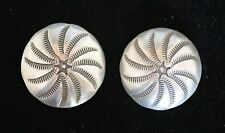 (2) Silver Buttons/ Conchos
