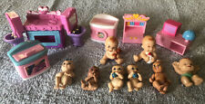 Dollhouse Babies And Furniture Lot