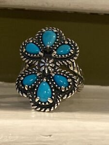 Carolyn Pollack Sterling Silver American West Turquoise Ring Sz 6