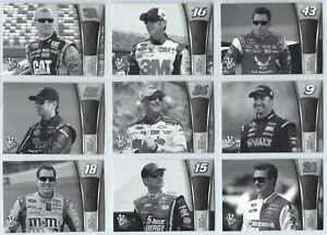 2013 Press Pass Racing NASCAR Black & White Proof You Pick Finish Your Set