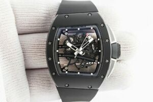 perfectly made mechanical carbon men watch