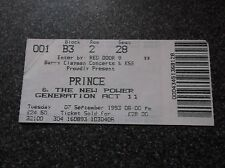 PRINCE  TICKET STUB  WEMBLEY  7th  SEPTEMBER 1993