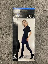 ladies black opaque tights 40 Denier Size Small BNIB