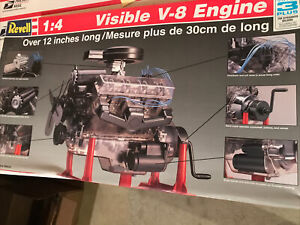 Revell Visible V8 Engine Factory Opened Box