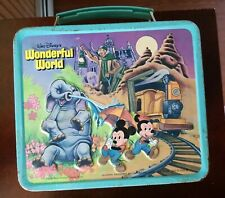Vintage 1979 Aladdin Walt Disney Magic Kingdom Wonderful World Metal Lunchbox