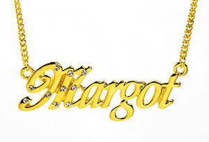 18K Gold Plated Necklace With Name MARGOT - Custom Neckless Personalised Wedding