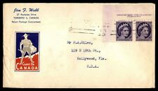 CANADA TORONTO COVER WITH CORNER PAIR TO HOLLYWOOD FL USA