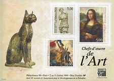 STAMP / TIMBRE FRANCE BLOC N° 23 ** TABLEAUX ART CHAT COTE 50 €