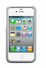 Bumper Umrandung Hülle Case Schutz für Apple iPhone 4 / 4S Hartschale in Silber