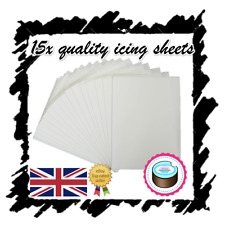 X15 EDIBLE ICING SHEETS FOR PRINTING, DECOR QUALITY PLAIN BLANK, A4 ICING PAPER
