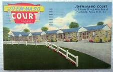 LINEN POSTCARD JO EM MA DO COURT MOTEL HARRISBURG PENNSYLVANIA #19
