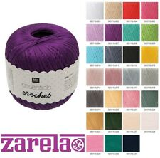 Rico Essentials Crochet 100% Cotton Mercerized Yarn Size 10 50g ***ALL COLOURS**
