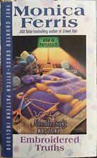 Needlecraft Mystery Embroidered Truths Book 9 Monica Ferris W Cross Stitch Chart
