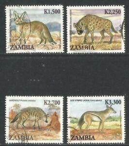 Zambia 2007 Local Mammals--Attractive Bird Topical (1093-96) fine used