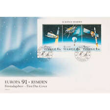 Schweden Nr. 1663-1665 FDC Ersttagsbrief Europa CEPT 1991 Weltraum