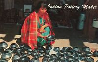 Postcard Indian Pottery Maker New Mexico