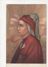 Dante Alighieri Giotto Vintage Art Postcard 411a