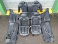 MERCEDES CLK Coupe Interior Black Leather Seats and Door Cards W209 C209 2003