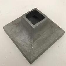 "12 Cast Aluminum Post Base Cap, 2"" tall, 4"" square, fits 1"" Fence Post LOT of 12"